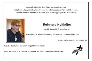 22.01.2018 Reinhard Holthöfer