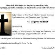 02.06.2015 Traueranzeige Modritsch Pforzheim