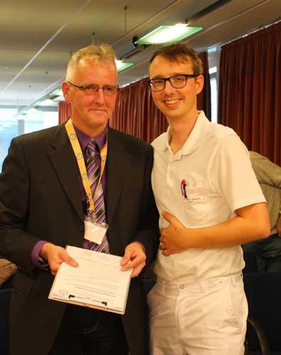 Lutz Otto mit Dr. Carl Meissner vom Klinikum Magdeburg