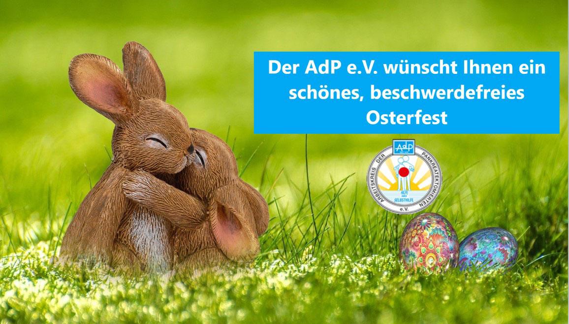 Der AdP e.V. - Bauchspeicheldrüsenerkrankte wünscht Ihnen Frohe Ostern 2021